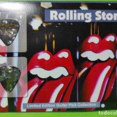 Instrumentos musicales: THE ROLLING STONES. COLECCIÓN DE 2 PÚAS DE GUITARRA.. Lote 248311300