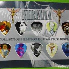 Instrumentos musicales: NIRVANA.. COLECCIÓN DE 10 PÚAS DE GUITARRA.. Lote 248288885