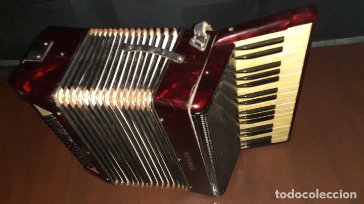 Instrumentos musicales: Acordeon HOHNER Verdi ll con su funda. - Foto 10 - 248314625