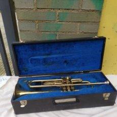 Instrumentos musicales: ESPECTACULAR TROMPETA ANTIGUA EN MALETÍN. Lote 248737410
