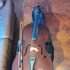 Instrumentos musicales: VIOLONCHELO KREUTZER SCHOOL 1 DE 1/4 CON FUNDA, CUERDAS DE REPUESTO, RESINA. Lote 249306350