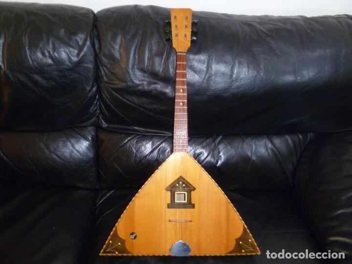 Instrumentos musicales: Antigua balalaika de 6 cuerdas - Foto 2 - 249542720