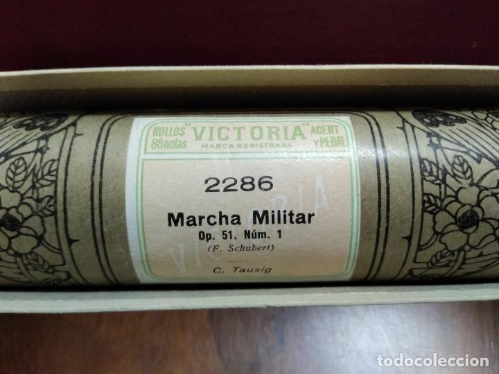 Instrumentos musicales: ROLLO PARA PIANOLA 88 NOTAS VICTORIA. 2286 MARCHA MILITAR. Op. 51 Nüm. 1. F. SCHUBERT - Foto 2 - 249544040