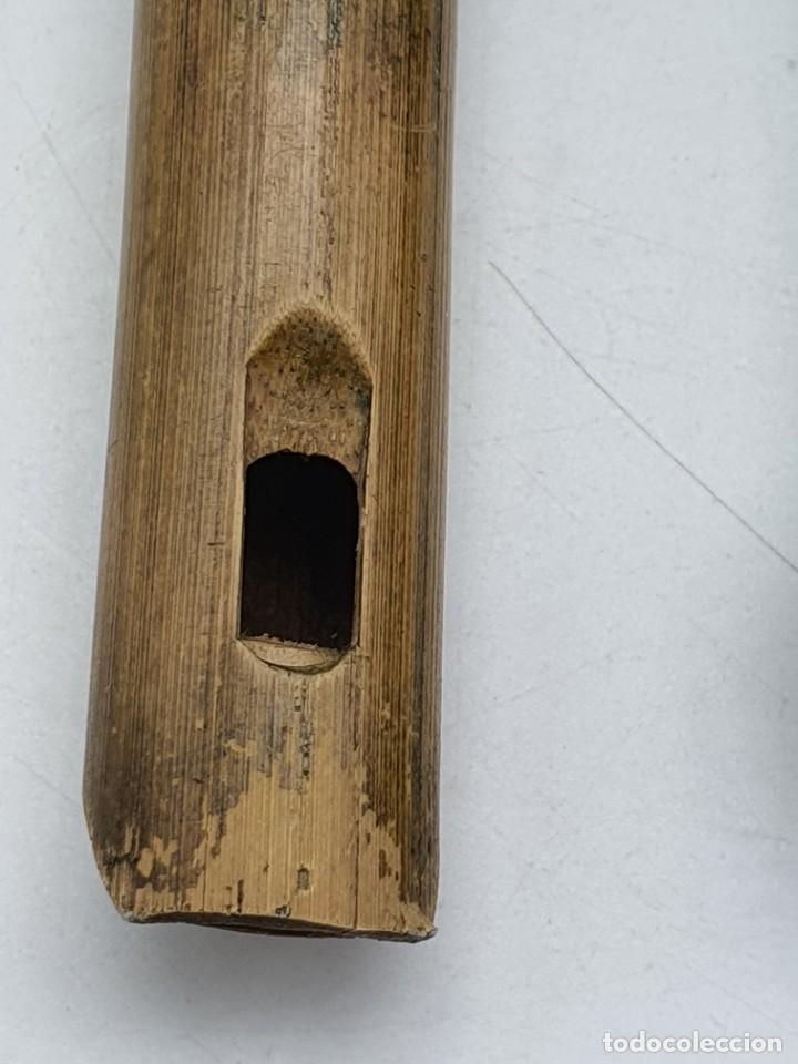 Instrumentos musicales: 2 FLAUTAS EN MADERA Y BAMBÚ ( VER FOTOS ) - Foto 2 - 251029385