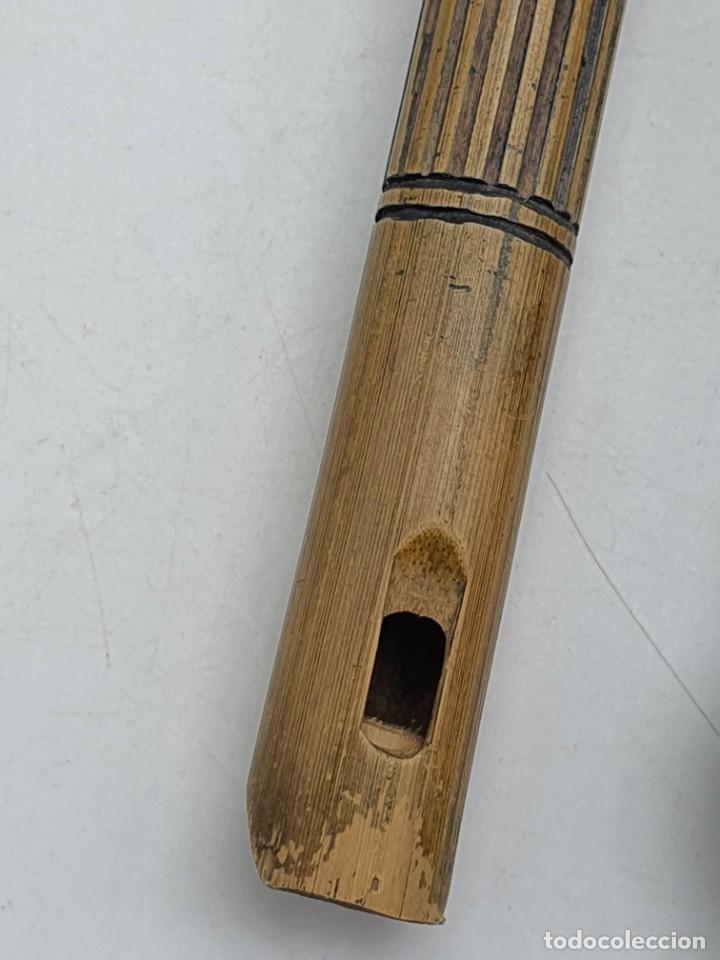 Instrumentos musicales: 2 FLAUTAS EN MADERA Y BAMBÚ ( VER FOTOS ) - Foto 8 - 251029385