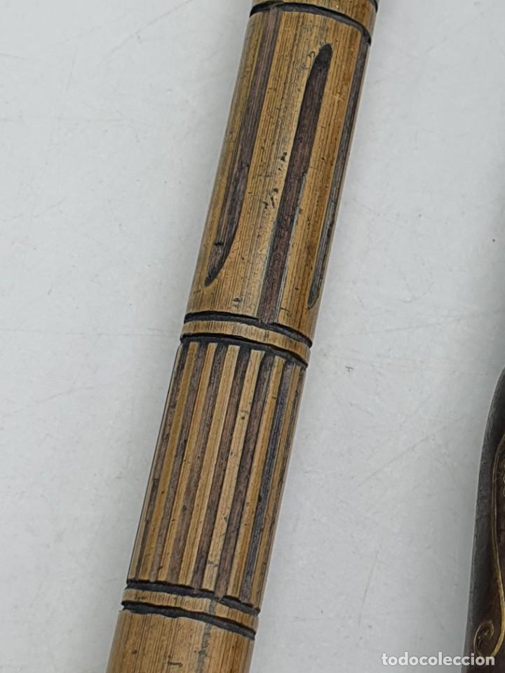 Instrumentos musicales: 2 FLAUTAS EN MADERA Y BAMBÚ ( VER FOTOS ) - Foto 9 - 251029385