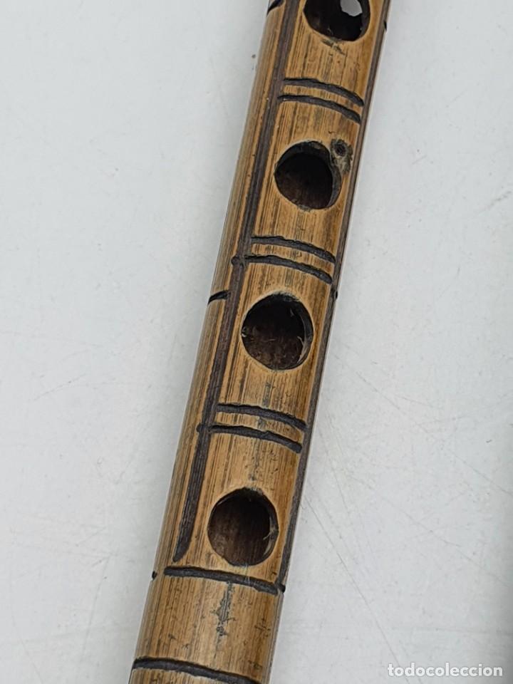 Instrumentos musicales: 2 FLAUTAS EN MADERA Y BAMBÚ ( VER FOTOS ) - Foto 11 - 251029385