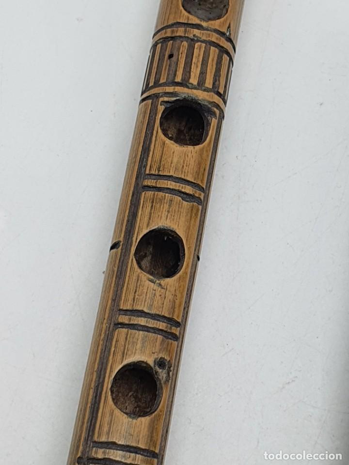 Instrumentos musicales: 2 FLAUTAS EN MADERA Y BAMBÚ ( VER FOTOS ) - Foto 12 - 251029385