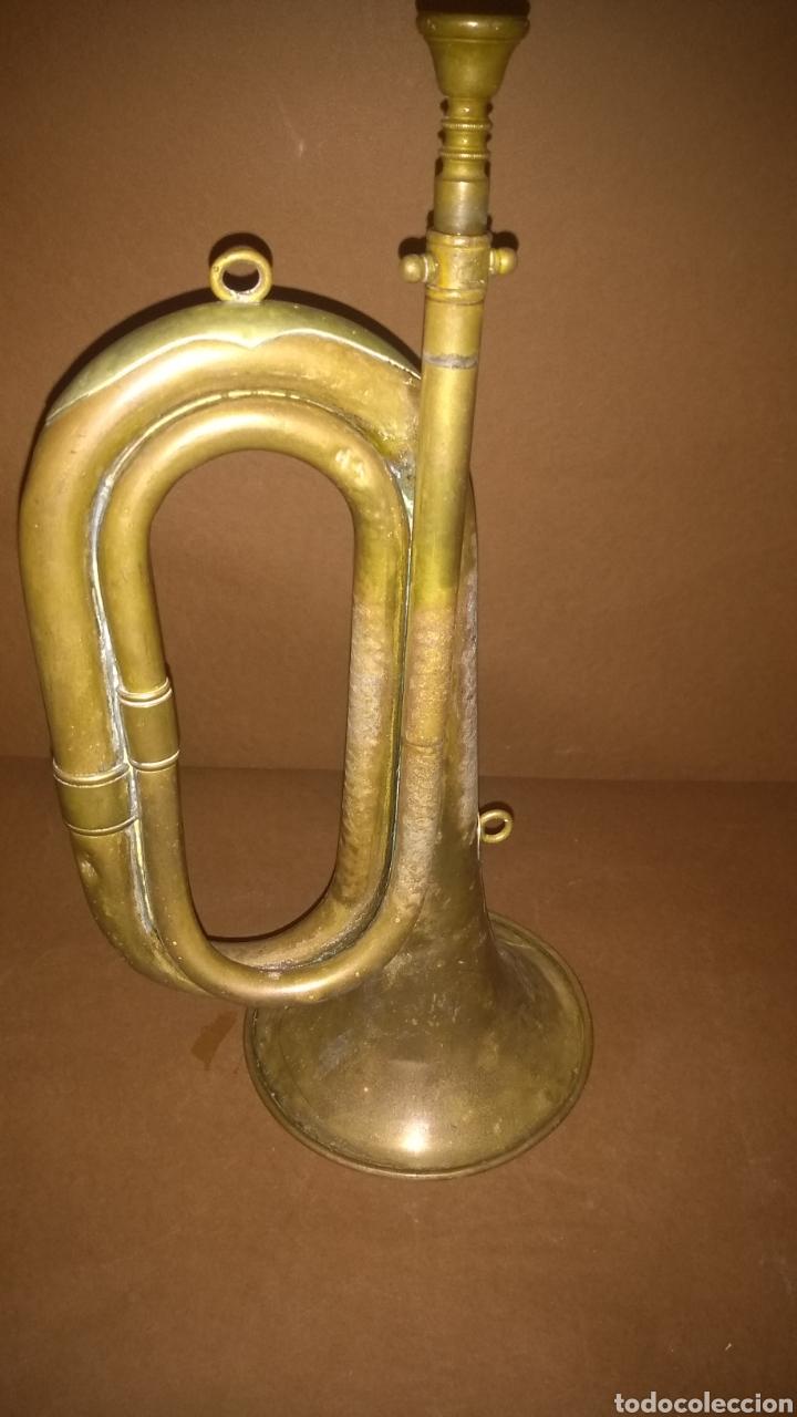 Instrumentos musicales: Corneta de latón antigua Casa Erviti San Sebastian - Foto 2 - 262164260