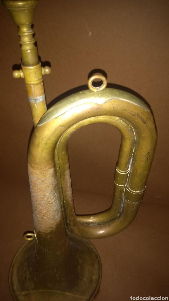 Instrumentos musicales: Corneta de latón antigua Casa Erviti San Sebastian - Foto 3 - 262164260