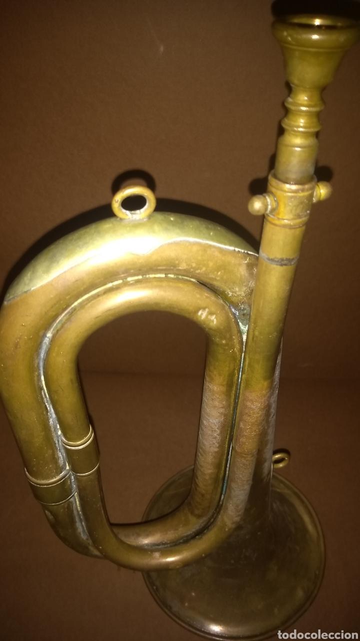 Instrumentos musicales: Corneta de latón antigua Casa Erviti San Sebastian - Foto 8 - 262164260