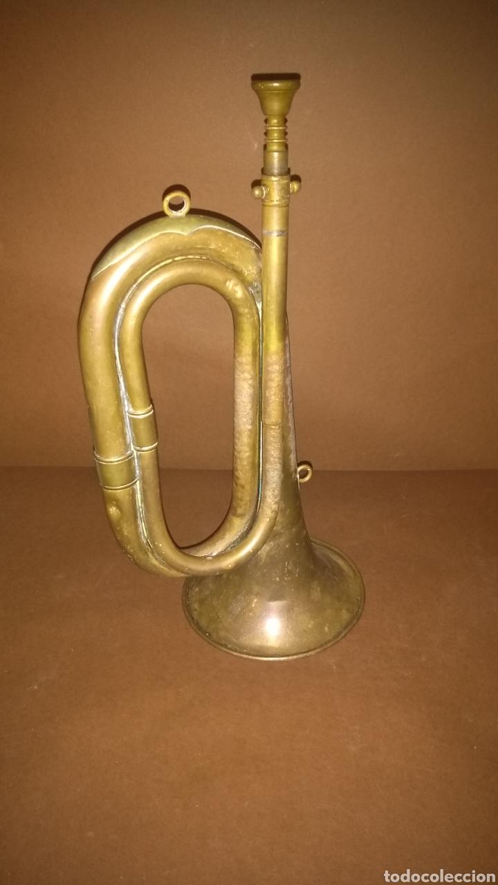 Instrumentos musicales: Corneta de latón antigua Casa Erviti San Sebastian - Foto 10 - 262164260