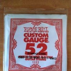 Instrumentos musicales: ERNIE BALL CUSTOM GAUGE 52 NICKEL WOUND ELECTRIC GUITAR STRING 1152. Lote 251692135