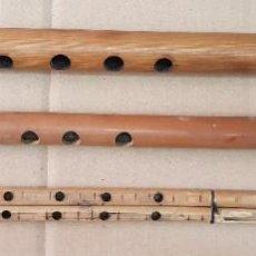 Instrumentos musicales: ANTIGUOS INSTRUMENTOS MUSICALES TRADICIONALES POPULAR FOLCLORE FLAUTAS CAÑA. Lote 251784875