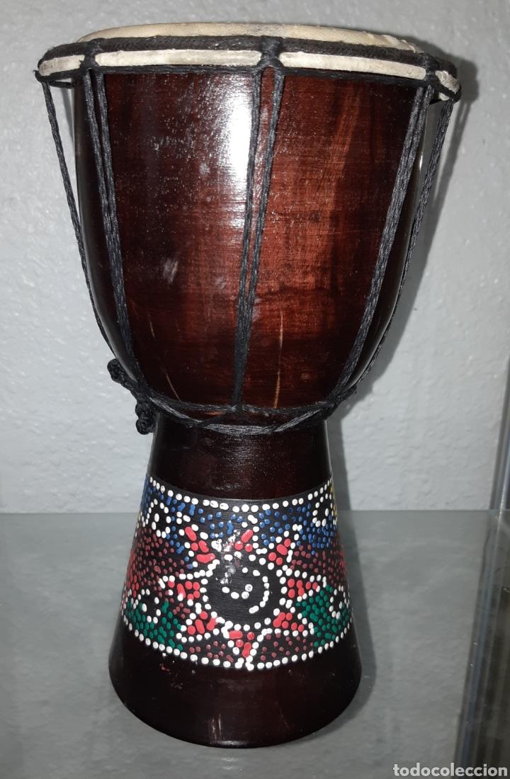Instrumentos musicales: OTROS GOYO - TAMBOR ÉTNICO - MADERA - AA99 - Foto 2 - 252227515