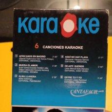 Instrumentos musicales: MÚSICA - CINTA VHS KARAOKE - BOMAN, 6 CANCIONES.. Lote 252386190