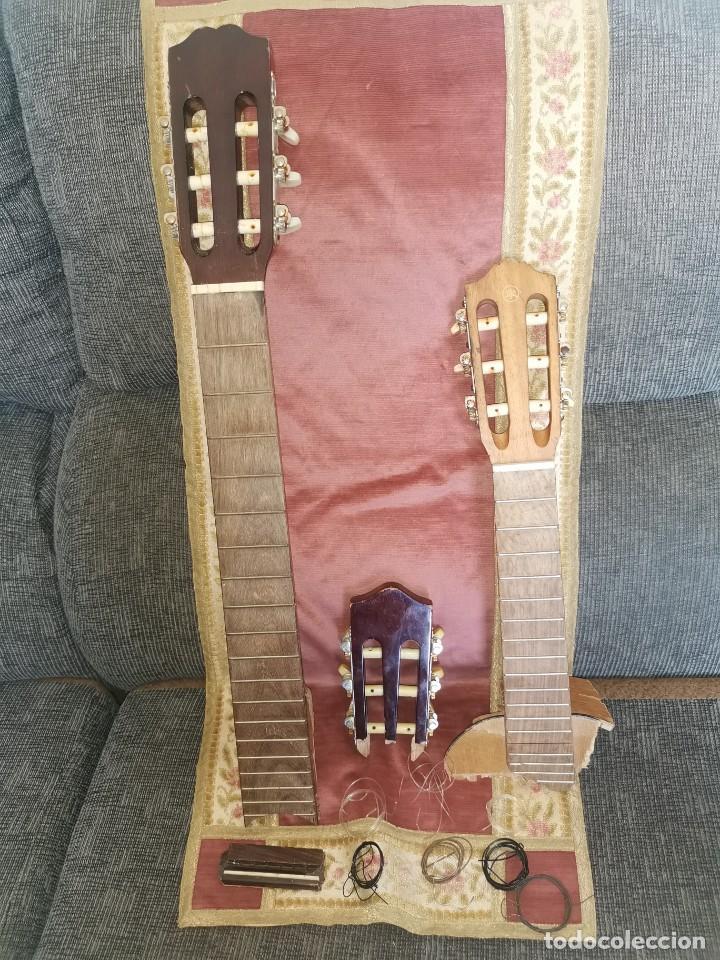 MÁSTILES, PUENTE Y CUERDAS DE GUITARRAS CLÁSICAS (Música - Instrumentos Musicales - Guitarras Antiguas)