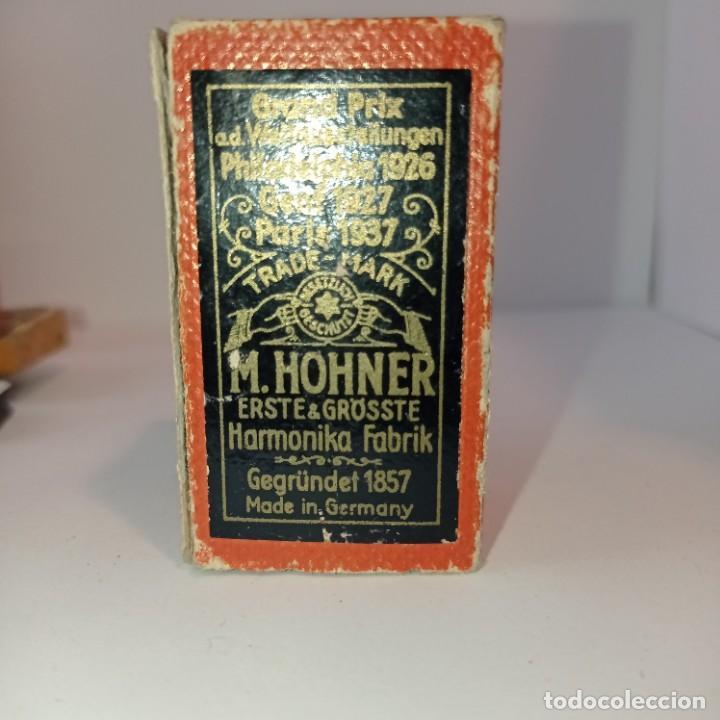 Instrumentos musicales: Armónica Hohner muy antigua - The Regulation Band- Caja y harmonica sin tapas. Entre 1905 y 1952. - Foto 2 - 252791580