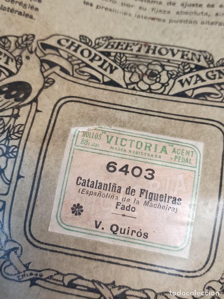 Instrumentos musicales: Catalaniña de Figueiras. Victoria. Rollo para pianola. C51 - Foto 2 - 252934385