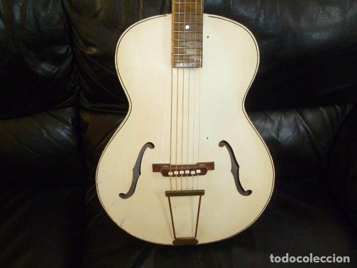 Instrumentos musicales: Antigua guitarra jazz holandesa Egmond - Foto 2 - 253148155