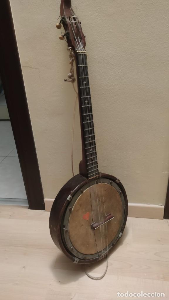 BANJO ANTIGUO, A RESTAURAR. UNOS 60 AÑOS. SE ENTREGA EN MANO BCN (Música - Instrumentos Musicales - Cuerda Antiguos)