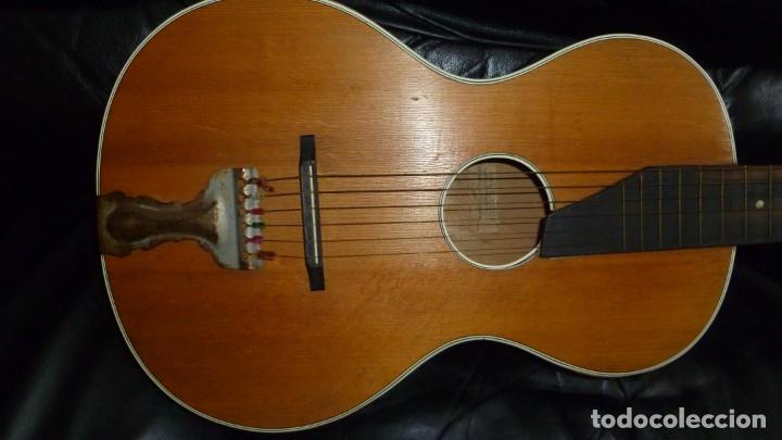 Instrumentos musicales: Guitarra centenaria alemana E. Paul Todt - Foto 3 - 253555795