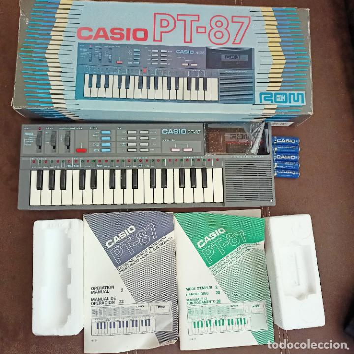 CASIO PT-87 NUEVO A ESTRENAR ROM PACK VINTAGE ELECTRONIC KEYBOARD / TECLADO (Música - Instrumentos Musicales - Teclados Eléctricos y Digitales)