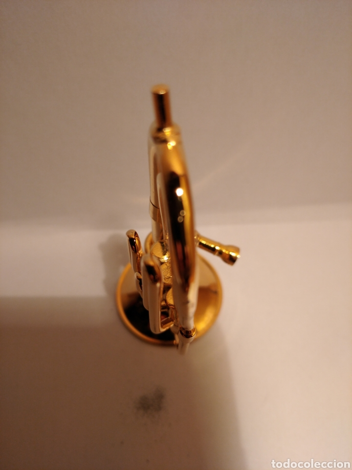 Instrumentos musicales: TUBA EN MINIATURA DE METAL. MINI TUBA DORADA. - Foto 5 - 254053530