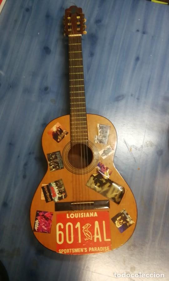 IMPRESIONANTE GUITARRA ESPANOLA ANTIGUA. FUNCIONA (Música - Instrumentos Musicales - Guitarras Antiguas)