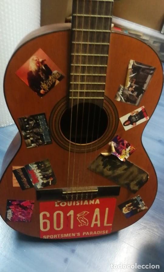 Instrumentos musicales: IMPRESIONANTE GUITARRA ESPANOLA ANTIGUA. FUNCIONA - Foto 5 - 254218895