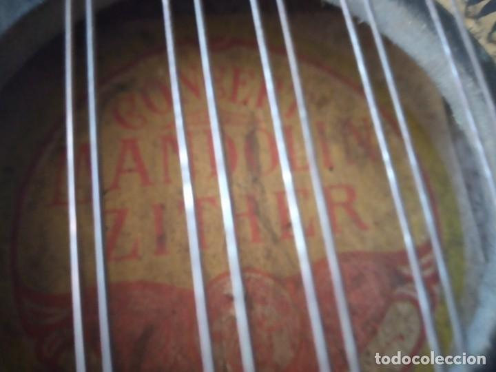 Instrumentos musicales: Antigua citara , concert mandolin zither 80 cuerdas, madera policromada. - Foto 13 - 254594645