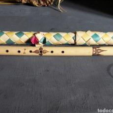 Instrumentos musicales: FLAUTA DE CAÑA CON SU FUNDA. SIN USO.. Lote 254736285