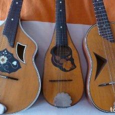 Instrumentos musicales: LOTE DE TRES ANTIGUAS MANDOLINAS. Lote 254777200