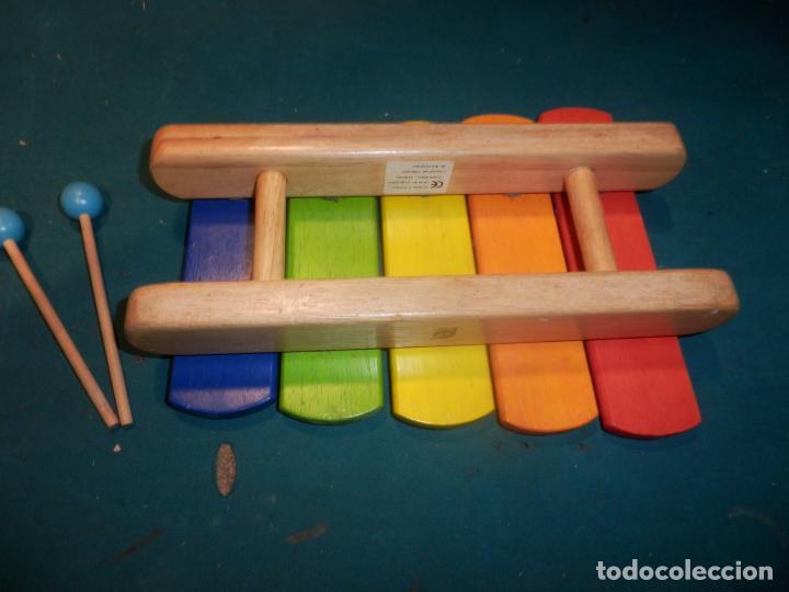 Instrumentos musicales: XILÓFONO MADERA + 2 BAQUETAS MARCA PINTOY - 26 CM. - Foto 2 - 254901870