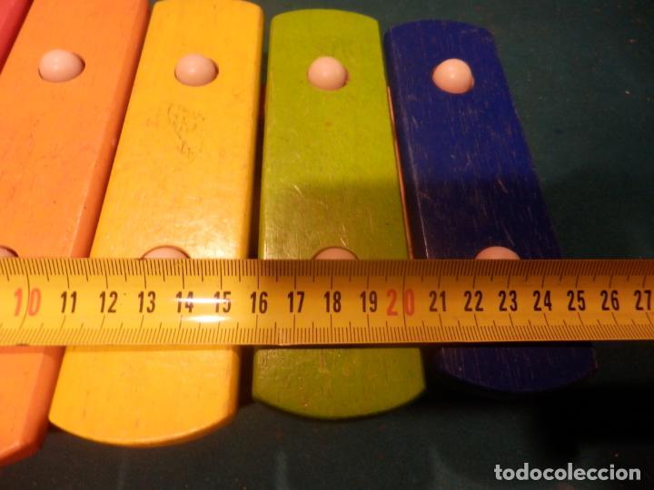Instrumentos musicales: XILÓFONO MADERA + 2 BAQUETAS MARCA PINTOY - 26 CM. - Foto 4 - 254901870