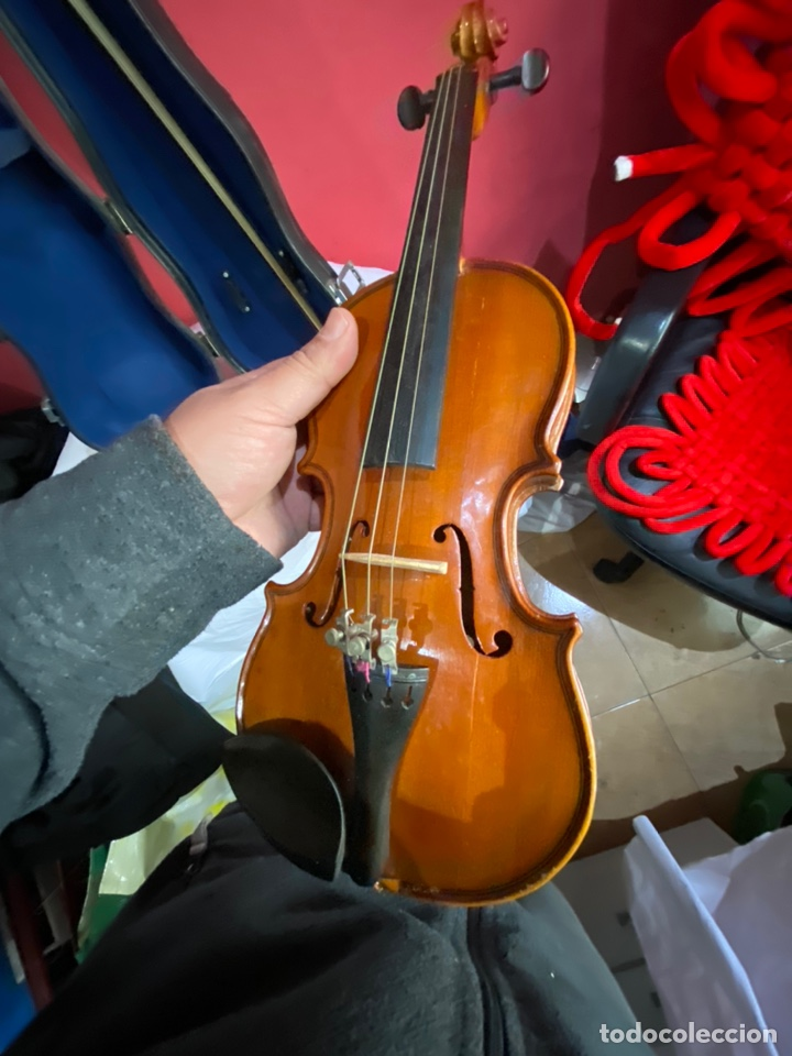 Instrumentos musicales: Antiguo violín de niño - Foto 6 - 254916565