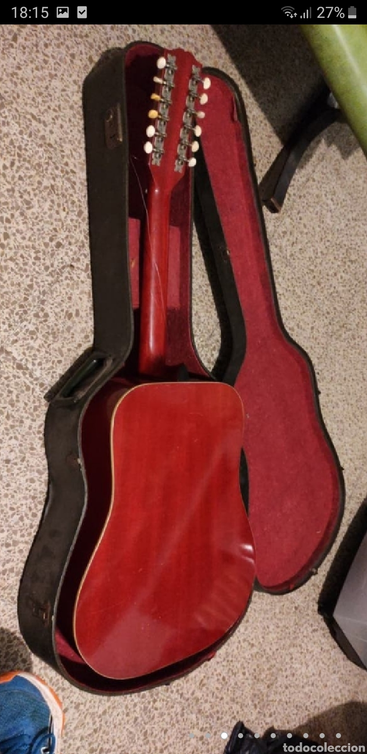Instrumentos musicales: Guitarra aria 12 cuerdas de 1965 made in japan - Foto 3 - 255408355