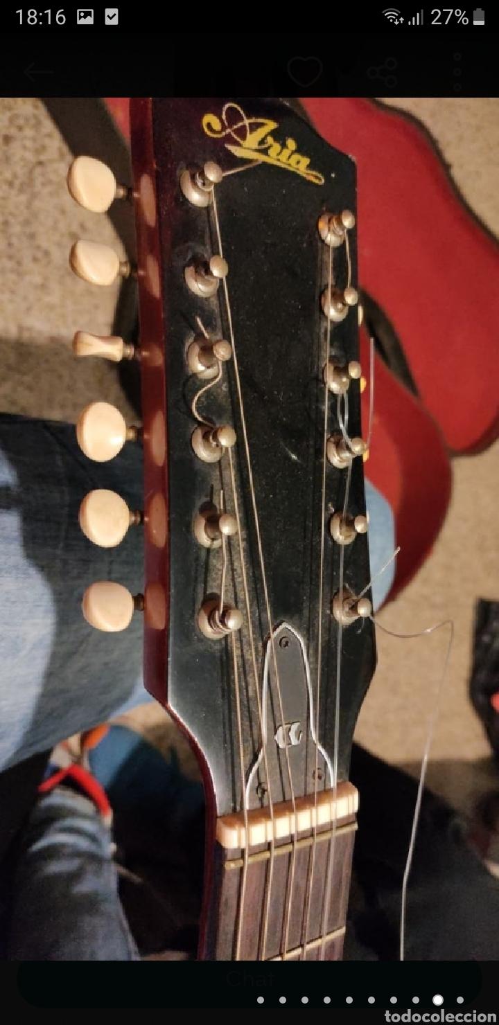 Instrumentos musicales: Guitarra aria 12 cuerdas de 1965 made in japan - Foto 9 - 255408355