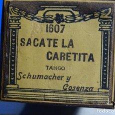 Instrumentos musicales: ROLLO DE PIANOLA. SÁCATE LA CARETITA. SCHUMACHER Y COSENZA.. Lote 255650650