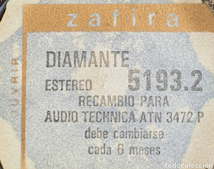 Instrumentos musicales: AGUJA TOCADISCOS AUDIO TECHNICA ATN 3472 P - DIAMANTE/ZAFIRA - Foto 4 - 256013240
