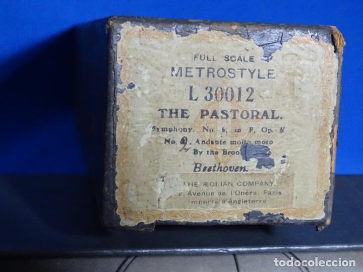 Instrumentos musicales: ROLLO DE PIANOLA. THE PASTORAL. BEETHOVEN. - Foto 2 - 257350335