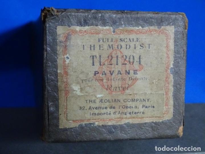 Instrumentos musicales: ROLLO DE PIANOLA. PAVANE. RAVEL. - Foto 2 - 257350840