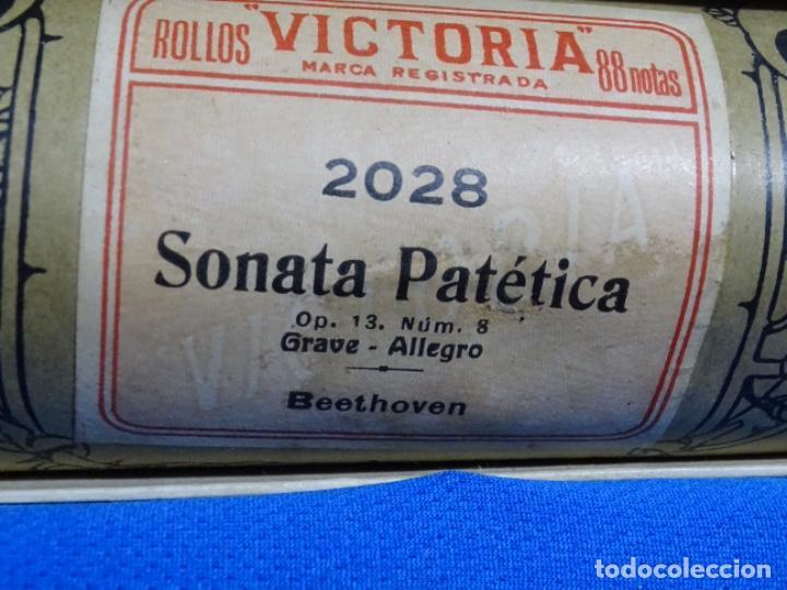 Instrumentos musicales: ROLLO DE PIANOLA. SONATA PATÉTICA. BEETHOVEN. - Foto 2 - 257351365
