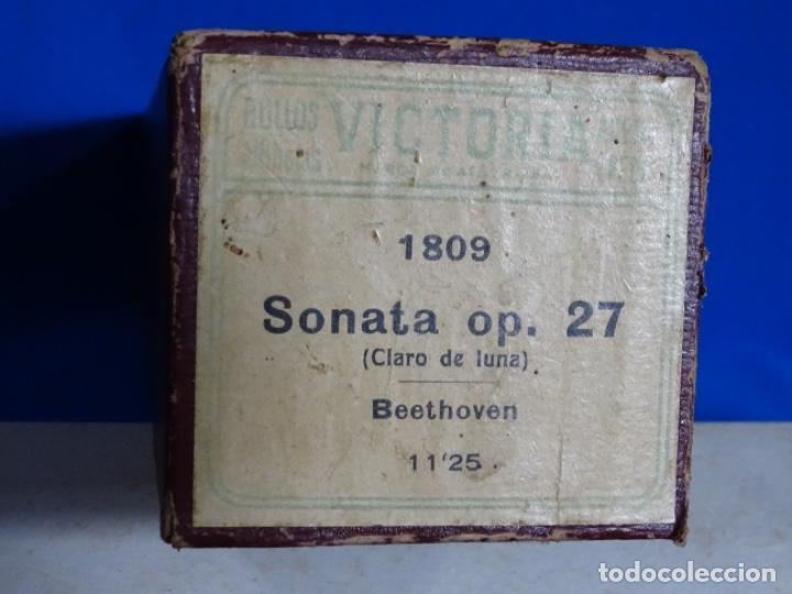 Instrumentos musicales: ROLLO DE PIANOLA. SONATA OP 27. BEETHOVEN. - Foto 2 - 257351515