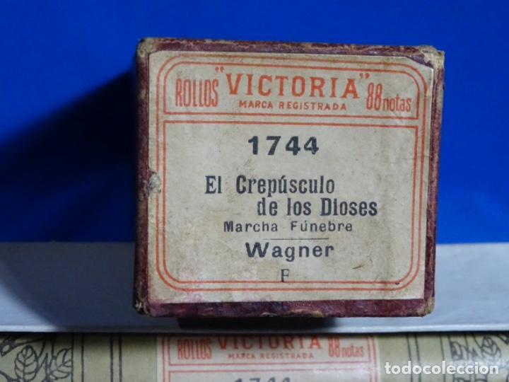 Instrumentos musicales: ROLLO DE PIANOLA. EL CREPÚSCULO DE LOS DIOSES. WAGNER. - Foto 2 - 257352145