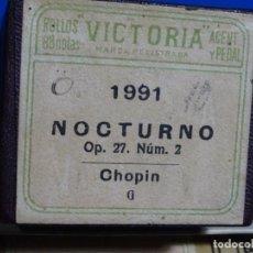 Instrumentos musicales: ROLLO DE PIANOLA. NOCTURNO. CHOPIN.. Lote 257352570