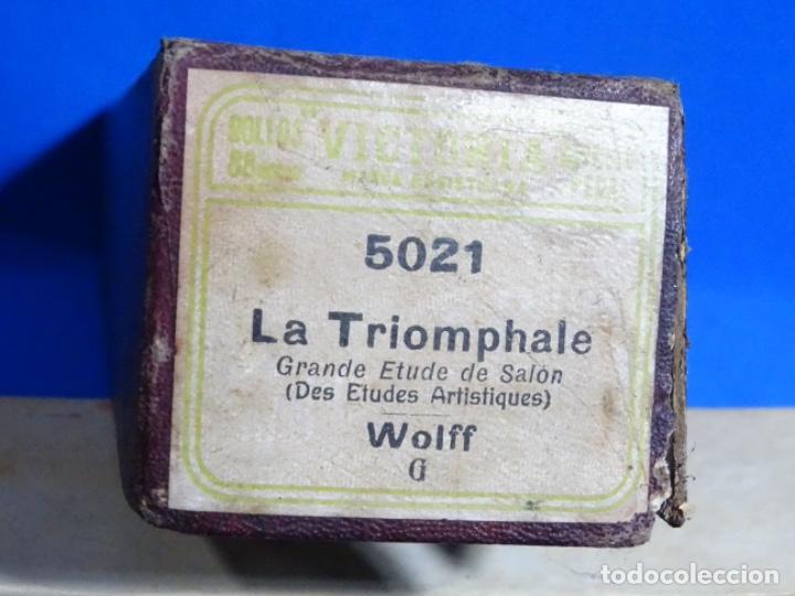 Instrumentos musicales: ROLLO DE PIANOLA. TRIOMPHALE. WOLFF. - Foto 2 - 257352665