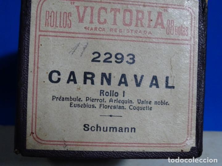 Instrumentos musicales: ROLLO DE PIANOLA. CARNAVAL. SCHUMANN. - Foto 2 - 257352795