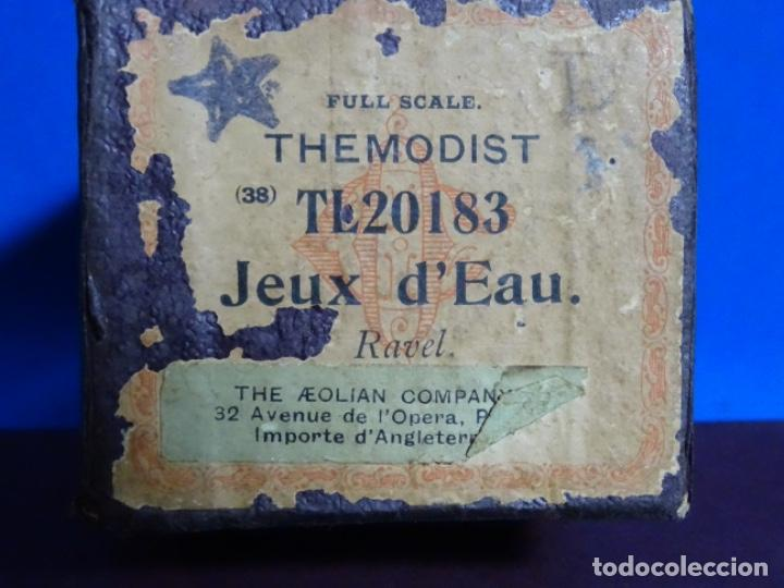 Instrumentos musicales: ROLLO DE PIANOLA. JEUX D' EAU. RAVEL. - Foto 2 - 257352900