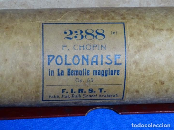 Instrumentos musicales: ROLLO DE PIANOLA. POLONAISE. CHOPIN. - Foto 2 - 257353130